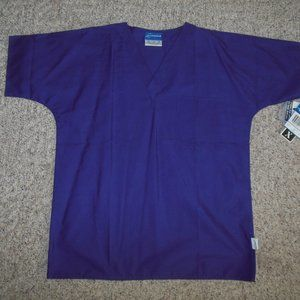 NWT! Crest Unisex Small Purple Scrub Uniform Top